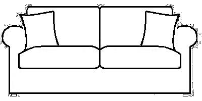 Durham-Sofas Range Line Drawing