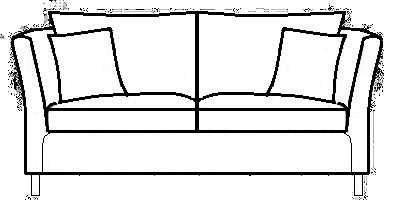 Hampton Sofas Range Line Drawing