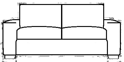 Kensington Sofa Range Line Drawing
