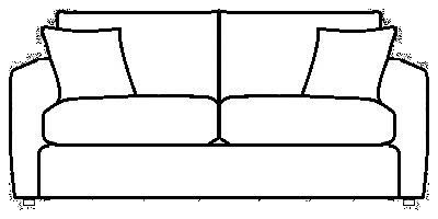 OxfordSofa Range Line Drawing
