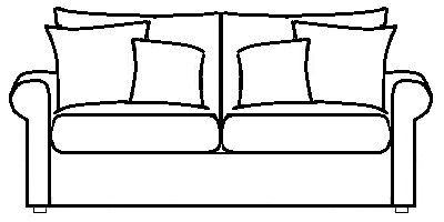 Sussex Sofa Range Line Drawing