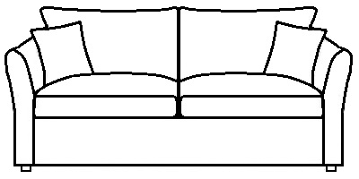 Windsor sofa range Line drawing