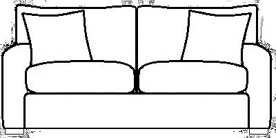 York Sofa Range Line Drawing