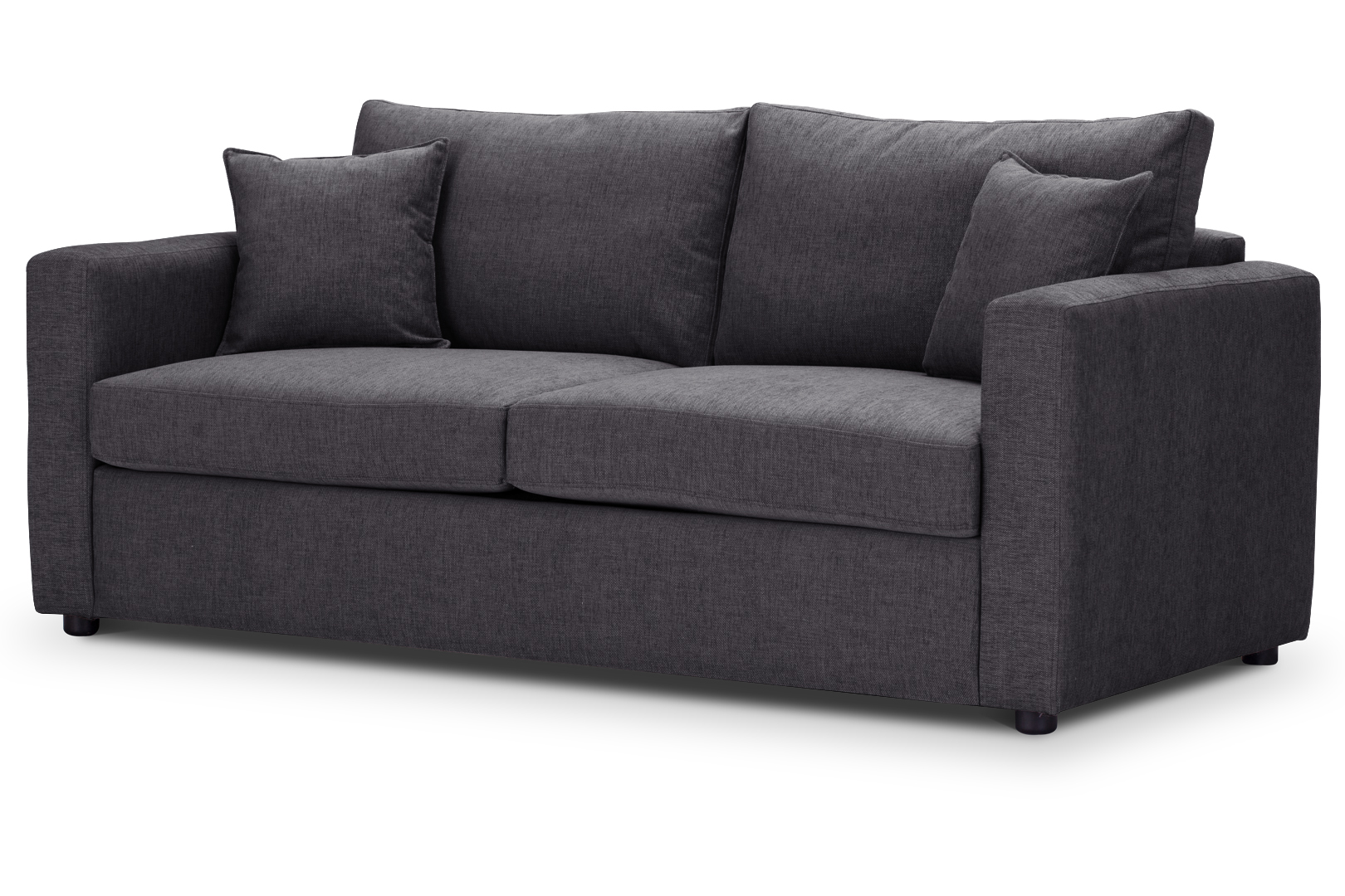 Oxford medium sofa bed charcoal highly sprung sofas for Sofa company